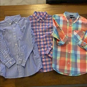 Lot of 3 boys button down shirts 6 Vineyard Vines